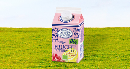 Fruchtbuttermilch Himbeere