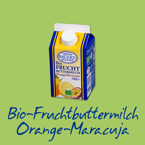 Fruchtbuttermilch Orange-Maracuja